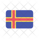 Aland Island Ax Flag Country Icon