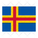 Aland Islands Flag Flags Icon