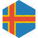 Aland Islands Flag Icon
