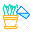 Watering Flowers Color Icon