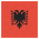Albania National Country Icon