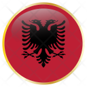 Albania Flag Country Icon