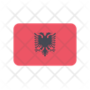 Albania Al Flag Country Icon