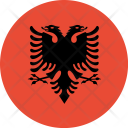 Albania Flag World Icon