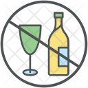 Alcohol Restricted Wine Icon