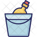 Alcohol Champagne Bucket Wine Bottle Icon