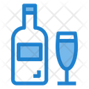 Champagne Bottledrink Beverages Icon