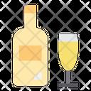 Champagne Bottledrink Beverages Icon