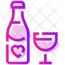 Valentine Day Alcohol Drink Icon