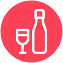 Alcohol Bottle Bottle And Glass Icon