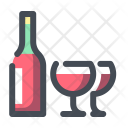 Alcohol Wine Glasses Icon