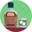 Alcohol Bottle Beer Ice Cubes Icon