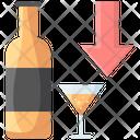 Alcohol Down Icon
