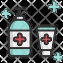 Alcohol Gel Clean Antibacterial Icon