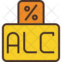 Alcohol Percent Icon