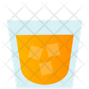 Alcohol With Ice Cubes Icon