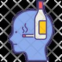 Alcoholism Mental Health Disorder Icon