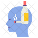 Alcoholism Mental Health Disorder Icon
