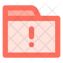 Alert Folder Data Icon