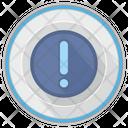 Warning Round Platform Icon