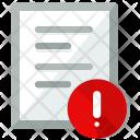 Alert document Icon