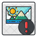 Alert in image Icon