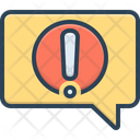 Alert Message Notification Reportage Icon