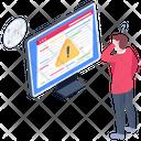 Web Warning Web Caution Alert Website Icon