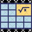 Algebra Cloze Elementary Algebra Icon