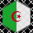 Algeria Flag Hexagon Icon