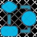 Algorithm Workflow Flowchart Icon