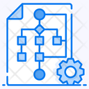 Algorithm Data Flow Sitemap Icon