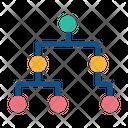 Algorithms Data Flow Icon