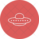 Alien Space Spaceship Icon