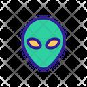 Space Alien Contour Icon