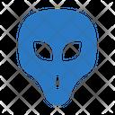 Alien Face Monster Icon