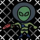 Gun Alien Vector Icon