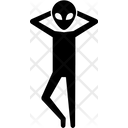 Alien Standing Pose Icon