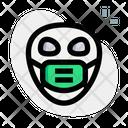 Alien Emoji With Face Mask Emoji Icon