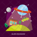 Alien Invasion Space Icon