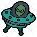 Alien driving the ufo Icon
