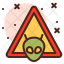 Aliens Warning Sign Icon