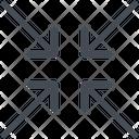 Align Arrow Center Icon