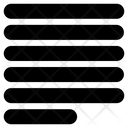 Align Text Lines Icon