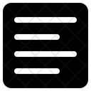 Align Left Text Lines Icon