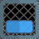 Align Object Bottom Icon