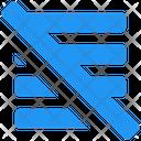 Alignslash Alignment Text Align Icon
