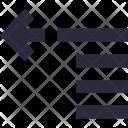 Alignment Left Sorting Icon