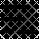 Alignment Minus Layout Icon