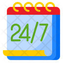 All Day 24 Hours Full Day Icon
